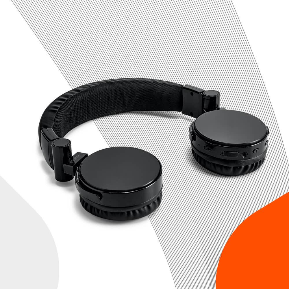 Ekston GROOVY headphones. Polyurethane headphones with a comfortable design. Wireless and foldable